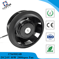 Purifier 175*69mm rear tilting blower DC 24V 1.8A 80W 2800rpm 300cfm DC variable frequency electrodeless speed centrifugal fan