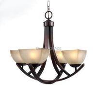 Rustic wrought iron chandelier lighting European, American retro living room lighting, Village Restaurant industrial droplight