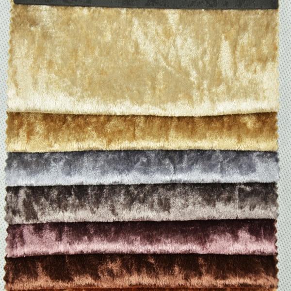 Buy wx101 crushed velvet fabric for for Velvet material for curtains