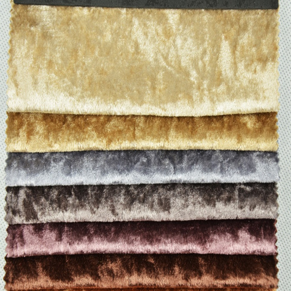 Wx101 Crushed Velvet Fabric For Upholstery Sofa Curtains