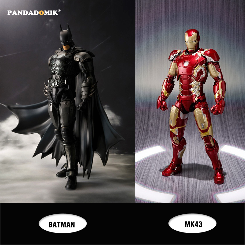 New Iron Man MK43 Batman Action Figure Super Heroes Hulk Avengers Captain Kids Toys Action Toy Figures Collectible Gift Toy 1 6 scale 30cm the avengers captain america civil war iron man mark xlv mk 45 resin starue action figure collectible model toy