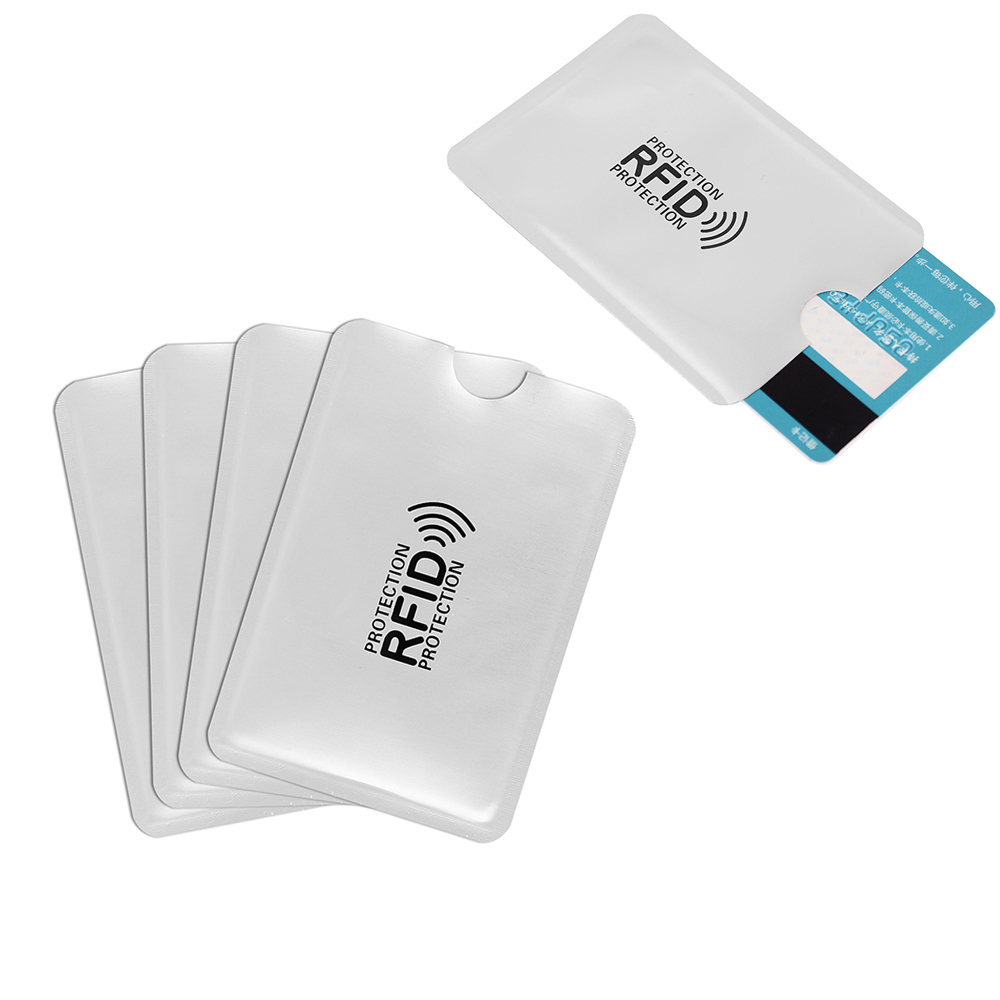 200Pcs RFID NFC Card Anti Degauss Sleeve Bank Card Credit Card Protect  Anti-Scan Card Sleeve Anti-magnetic Aluminum