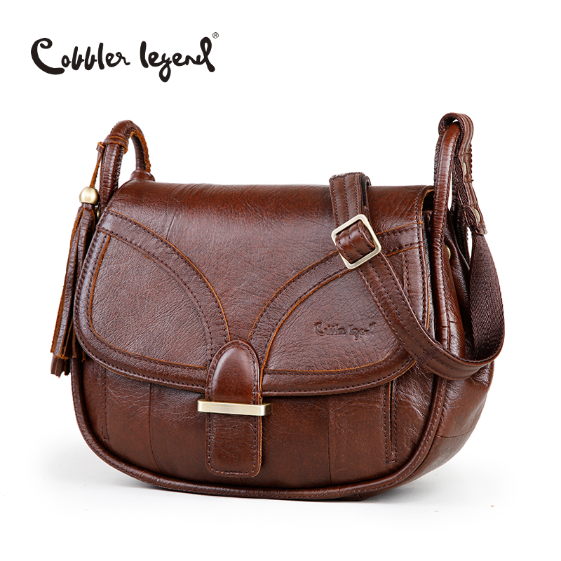 Cobbler Legend Brand Designer 2017 Women's Genuine Leather Vintage Single Should