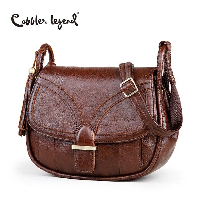 Cobbler Legend Brand Designer 2018 Women's Genuine Leather Vintage Single Shoulder Bag Women Crossbody Bags Handbags For Ladies