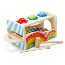 Multifunctional Music Knocking Table Wooden Educational Toys Baby Wood Knock Classic Children's Early Training Noise Maker toy