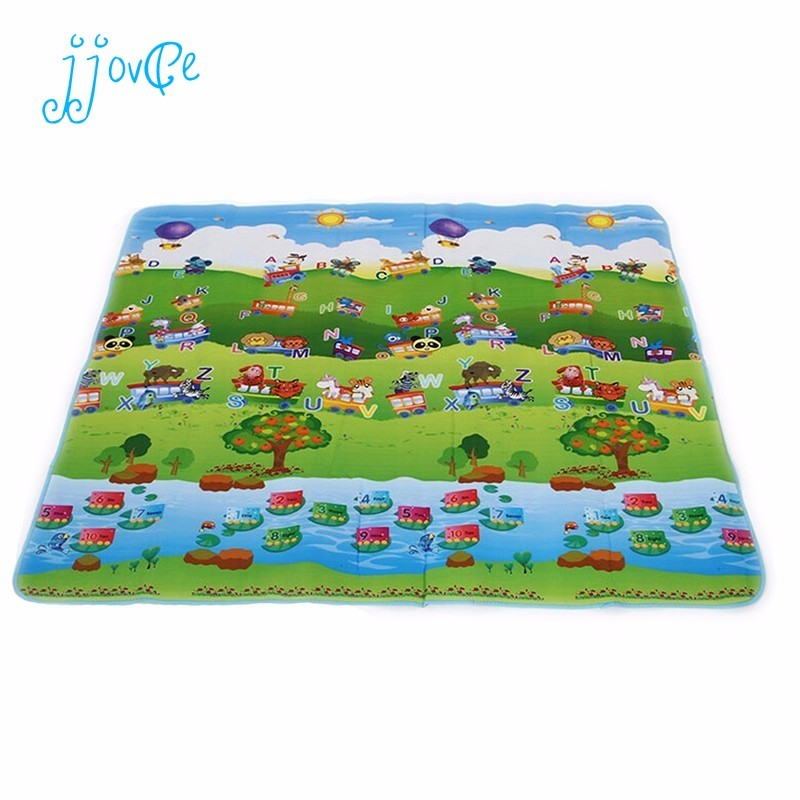 Beach New Style Double Site Baby Play Mat Ocean And Zoo