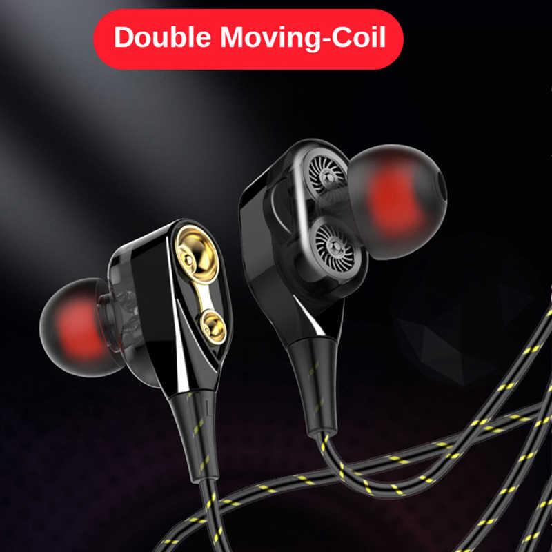 Rovtop מגנטי Wired סטריאו באוזן אוזניות סופר בס כפול כונן אוזניות אוזניות אוזניות עבור Huawei סמסונג SmartPhone