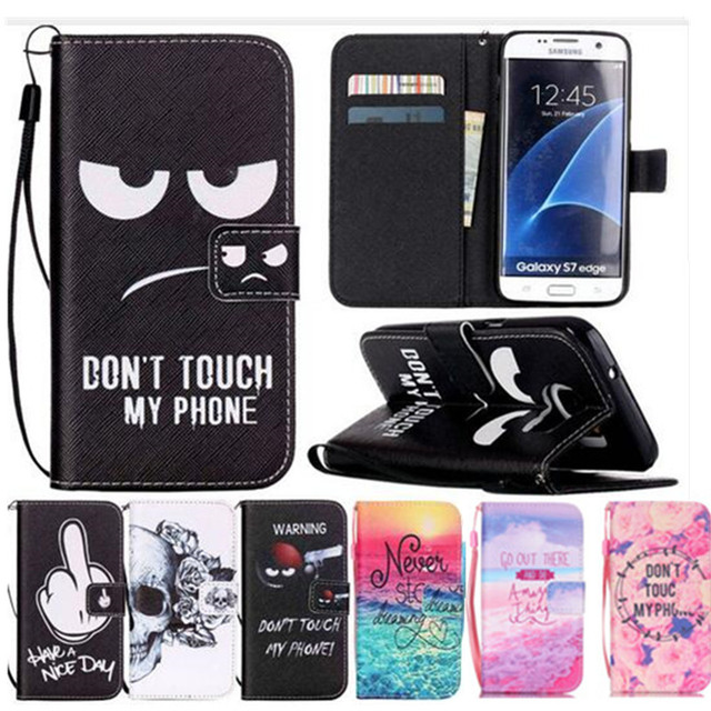 PU Leather Case For  Samsung Galaxy S7 Edge