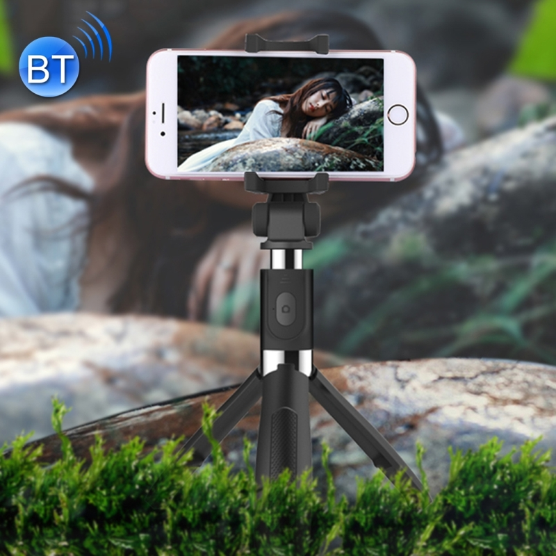 2 in 1 Foldable Bluetooth Shutter Remote Selfie Stick Table Tripod for iPhone X 8Plus 8 Sony Samsung Mobile Phone and so on