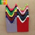 Gran venta! 2016 nuevas mujeres de la ropa de la camiseta en otoño / invierno barato Multicolor del u-cuello de manga larga Tops camisa básica caliente envío gratuito