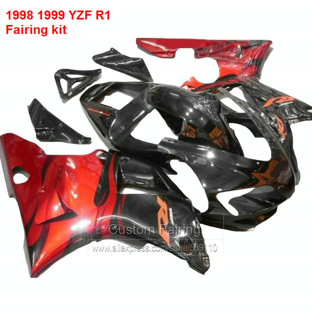 Fairing Body Kits For YAMAHA YZF R1 98 99 Metallic Red Fairings High Quality Abs Kit Ll23