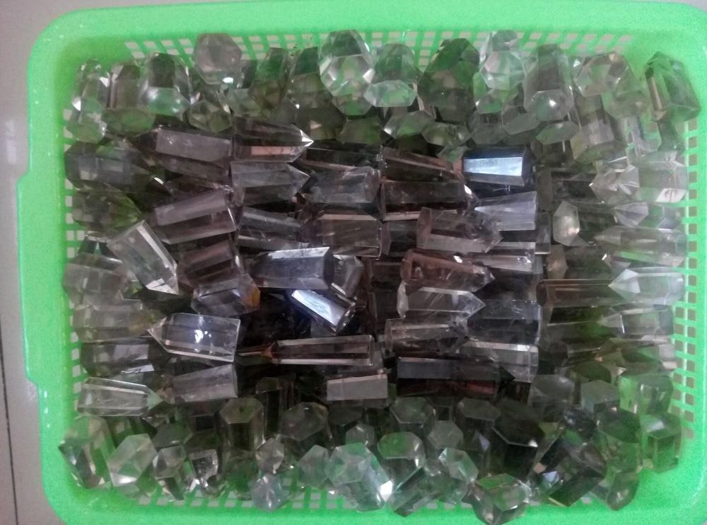 50 55pcs NATURAL smoky Quartz Crystal Points wand Healing Brazil