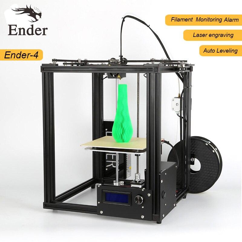 2018 3D Принтер Комплект ender-4 с лазерной/автоматическое выравнивание/нити мониторинга сигнализация защита большой Размеры 220*220*300 мм принтер 3D