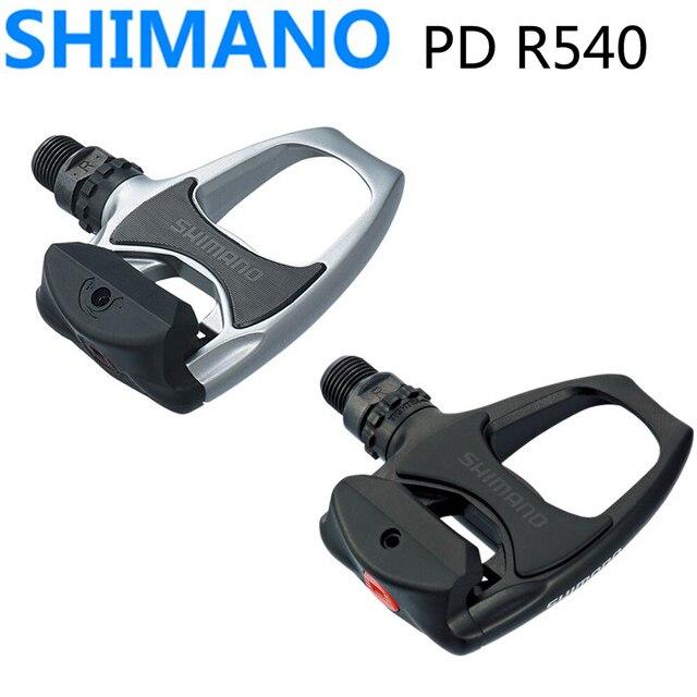 Shimano PD R540 Auto-Verrouillage SPD Pédales Vélo Vélo De Route pédales VTT PD-R540 Composants En Utilisant pour Vélo de Course Crampons pièces