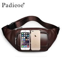 Leather Men's Leather Bags Leather Casual Waist Bags High quality Waist Belt Waist Bags ipad Bags High end Luxury