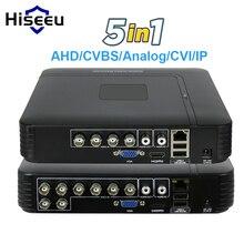 5 в 1 видеонаблюдения Мини DVR TVI CVI AHD CVBS IP Камера цифрового видео Регистраторы 4CH 8CH AHD DVR NVR CCTV Системы P2P безопасности hiseeu