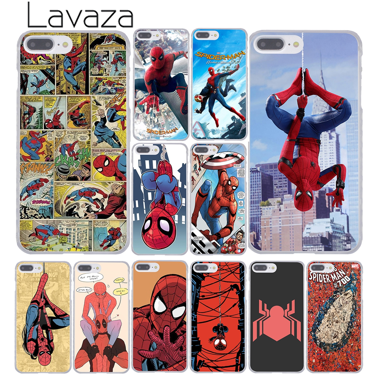 Lavaza Spider Man Marvel Spider Man Homecoming Comics Phone Case for iPhone XR XS Max X 8 7 6 6S