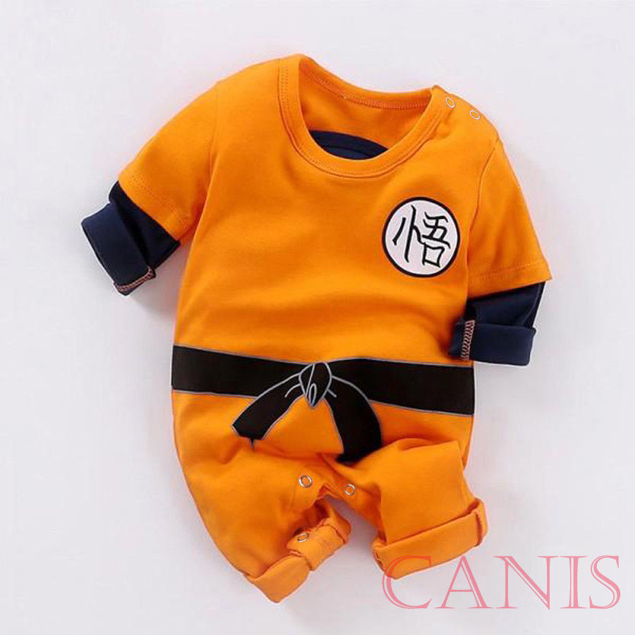 Newborn Baby Boys Fashion Cotton KungFu Goku One Piece   Romper   Clothes