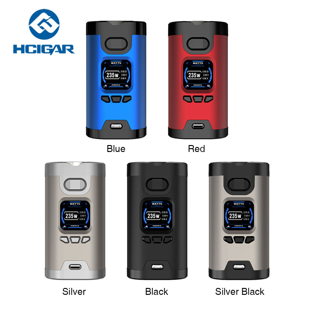 Original 235W Hcigar Wildwolf E cigarette TC MOD w/ Towis XT235 Chipset & 1.3inch Display Vape Box Mod Vs Dynamo Mod/ Cylon Mod стоимость