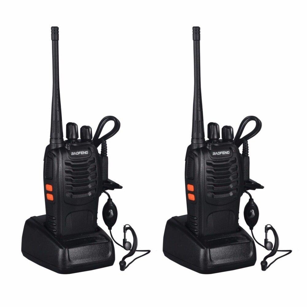 2 pcs Baofeng BF-888S Talkie Walkie 5 w De Poche à Deux Voies Radio bf 888 s UHF 400-470 mhz fréquence Portable CB Radio Communicateur