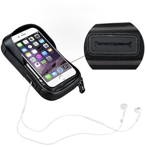Image 3 - Powstro טלפון מחזיק אוניברסלי אופני נייד תמיכה לעמוד Waterproof עבור IPhone X 8 בתוספת S8 V20 GPS אופניים אופני כידון תיק