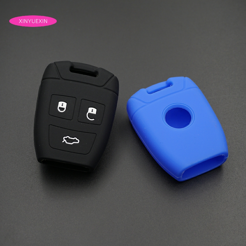 Xinyuexin Silicone Rubber Car Key Cover Shell Fob Fit for Fiat Croma Bravo Stilo 3 Button Smart Remote Key Case Car-styling kutery 3 buttons flip folding remote key case shell cover fob for fiat punto panda stilo ducato bravo anahtar guscio chiave key