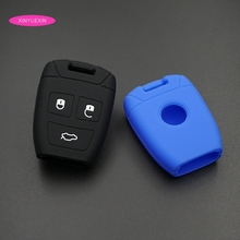Xinyuexin Silicone Rubber Car Key Cover Shell Fob Fit for Fiat Croma Bravo Stilo 3 Button Smart Remote Case Car-styling