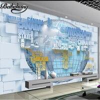 Beibehang özel büyük boyutlu fotoğraf kağıdı mural 3d stereo hd moda İngilizce harita 3d tv zemin yatak odası duvar resimleri duvar kağıt