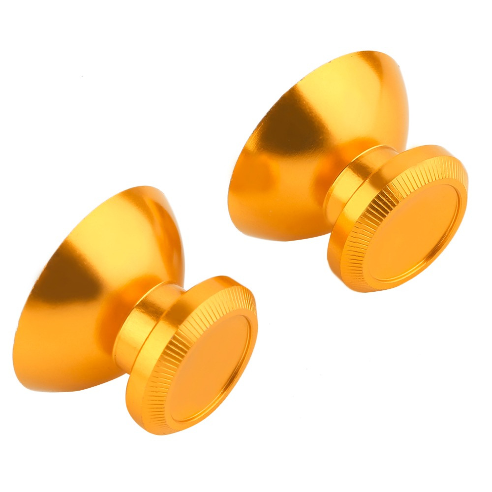 1 Pair Metal Analog Mushroom Shaped Thumbsticks Thumb Stick Joystick Stick Cap Cover for Xbox 360 Controller