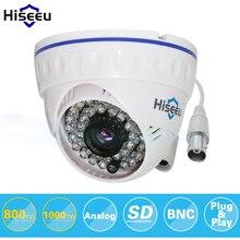 Hiseeu 800tvl cmos 1000tvl cctv cámara analógica cámara de corte ir de interior de seguridad mini domo cámara de vigilancia de visión nocturna 36 led
