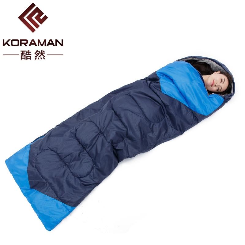 КОРАМАН Новый Открытый оборудование для кемпинга спальный мешок 1.35 кг ленивый мешок притон водонепроницаемый один Спящая Путешествия Весн... ...