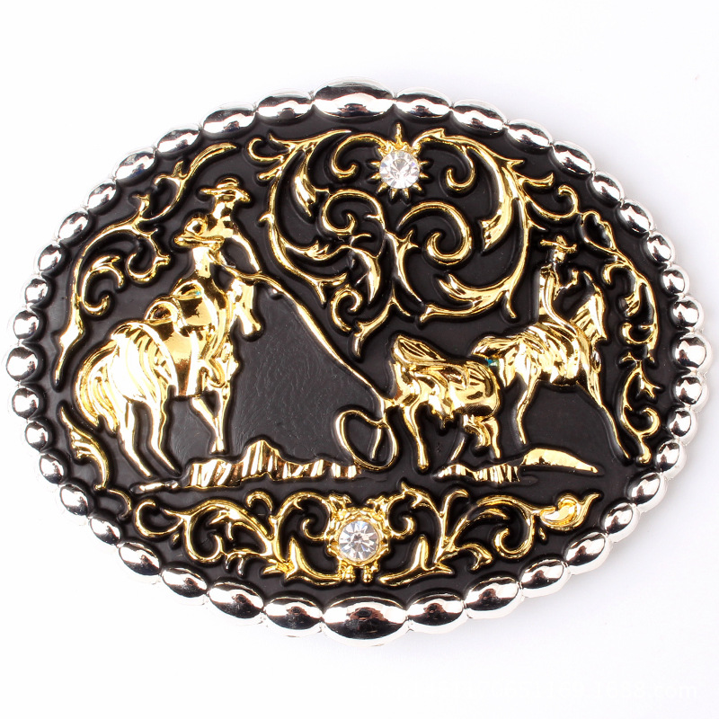 High-grade Grazing Belt Buckle Metal Skin Individual Character Decorative Pattern Take The Lead