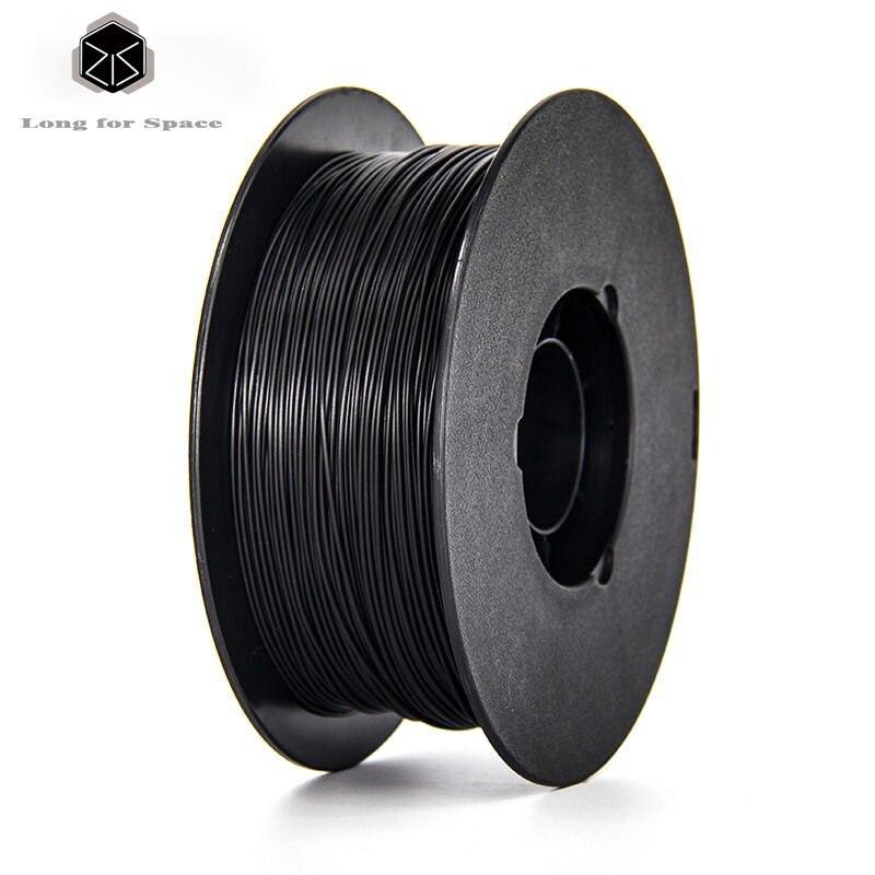 Black 1.75mm PLA/ABS 3D Printer Filament New High Quality Plastic PLA Filament 1Kg/Spool For 3D Printer Or 3D Pen 20 Colors  biqu new spool filament mount rack bracket for pla abs filament 3d printer