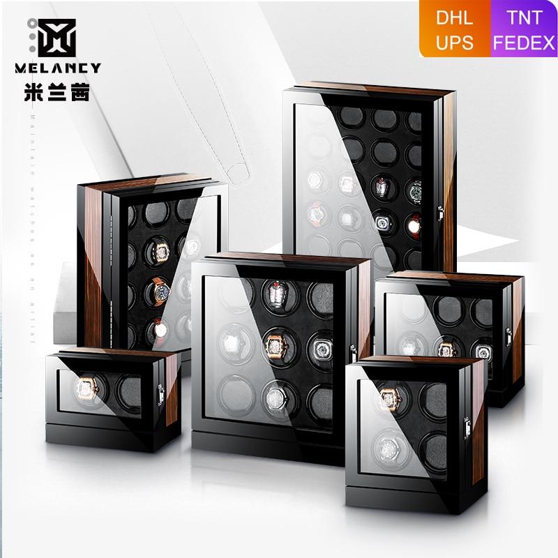 M Q Luxury uhrenbeweger watch winder automatic rotations wooden safe mabuchi motor led winder box watch