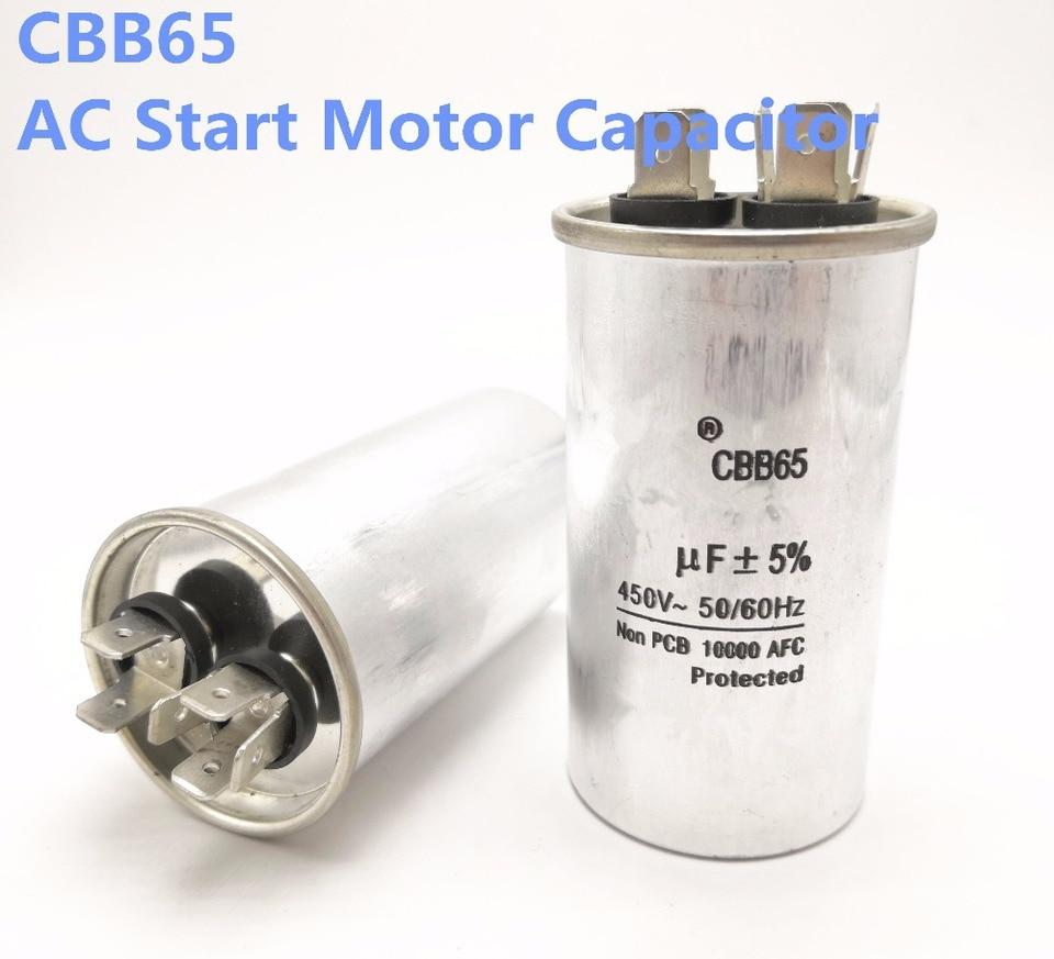 20uF CBB65 Run Capacitor 450V 50//60Hz Aluminum Motor Run Start Capacitor
