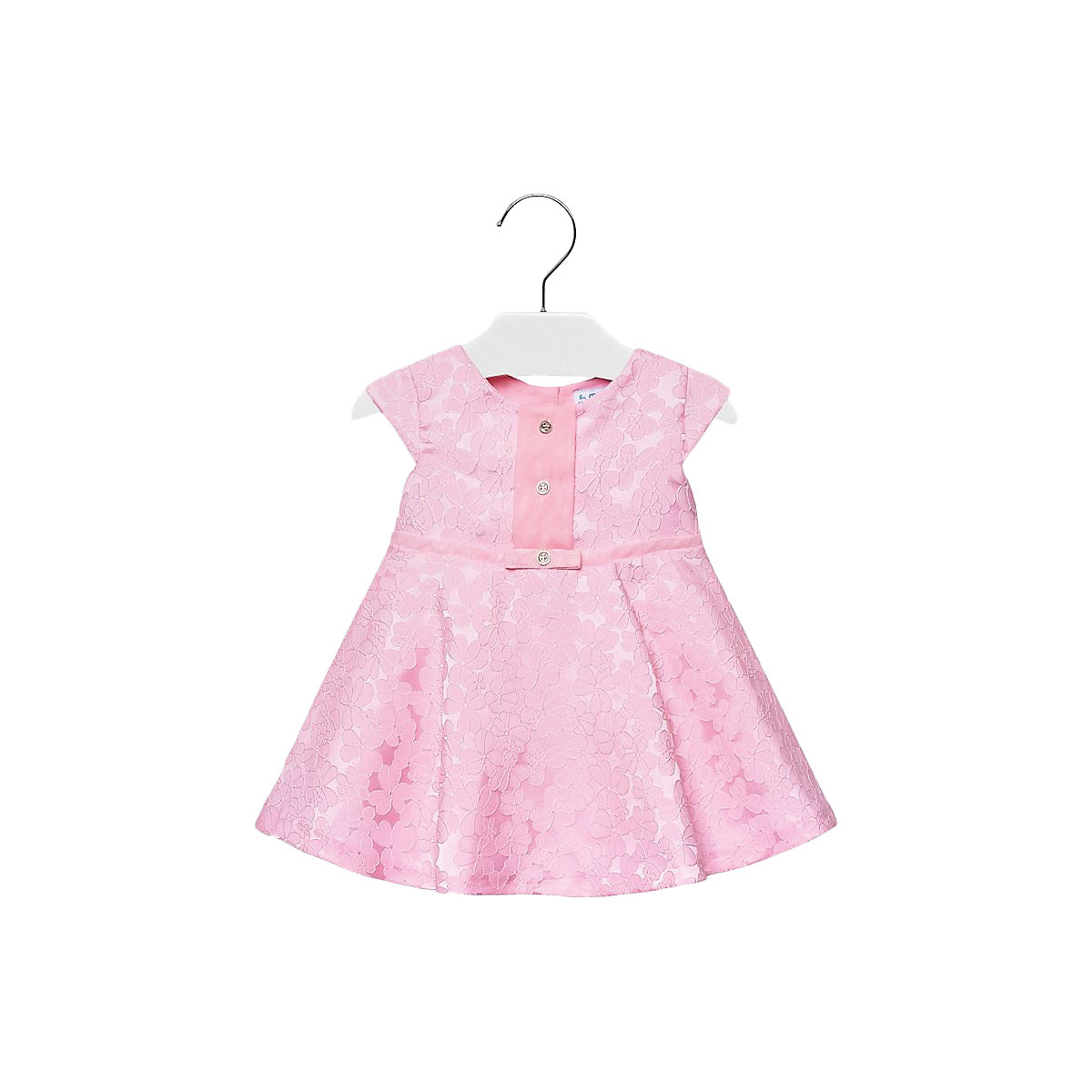 MAYORAL Dresses 10688998 Girl Children fitted pleated skirt Pink Polyester Casual Solid Knee-Length Sleeveless Sleeve