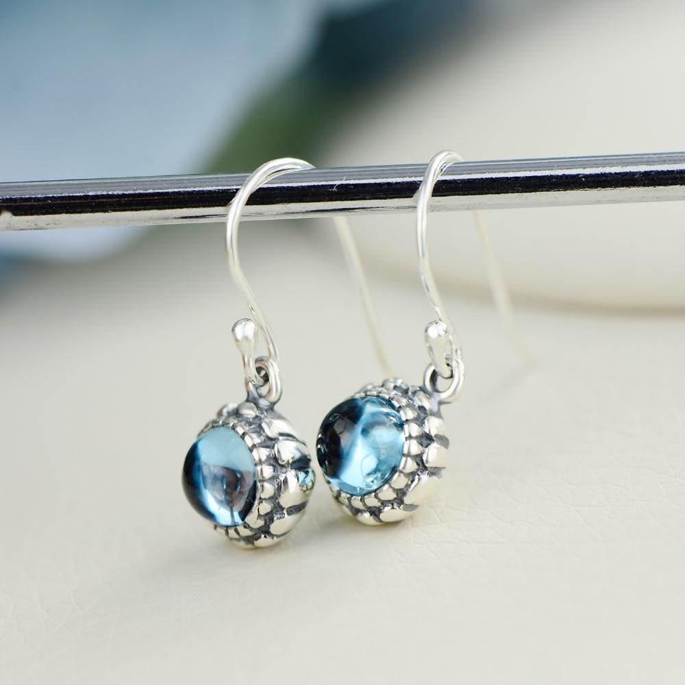 Drahokam Drop Náušnice pro ženy Elegantní přírodní Topaz 100% 925 Euro stříbrné náušnice jemné šperky pro velkoobchod
