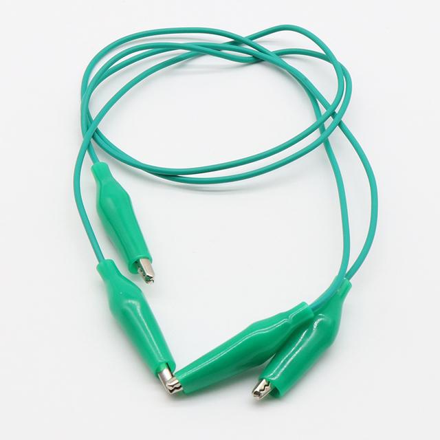 Brand New 10 sztuk aligator klipy elektryczne DIY przewody pomiarowe aligatora podwójne krokodylki krokodylki Roach klip kabel mostkujący