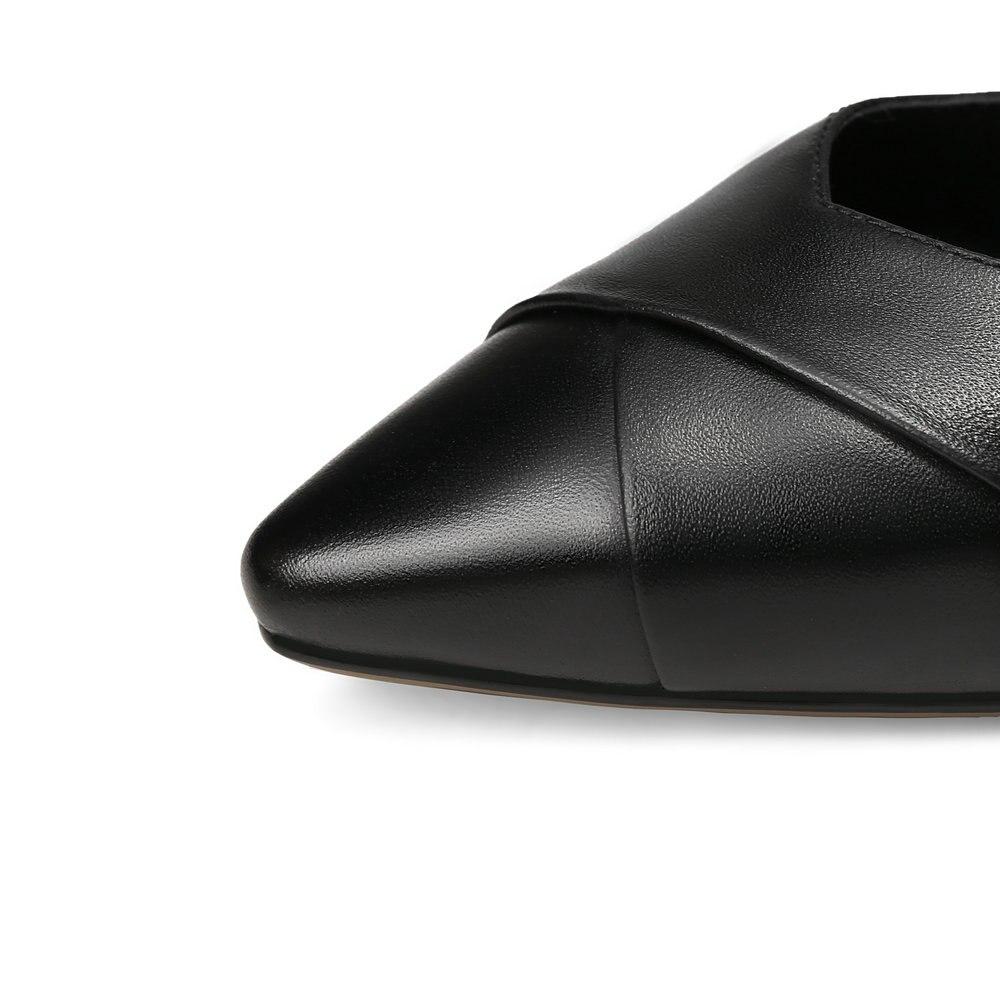 black Noir Base De Pompes En Plate Beige Femmes Cuir Chaussures Bas Talons Femme Nouveau Bureau Des forme Aiweiyi Talon Pour Véritable wREFxqR