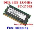 Пожизненная гарантия для микрон DDR 1 ГБ 333 мГц PC-2700 1 г портативный ноутбук памяти первоначально 200PIN SODIMM