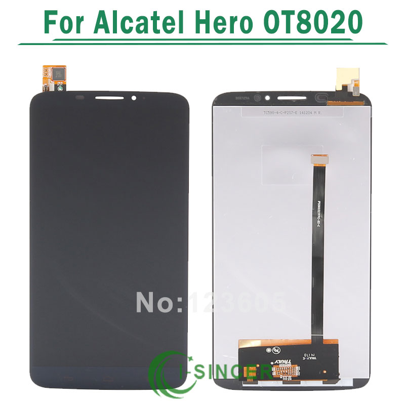 for Alcatel One Touch Hero 8020D OT8020 LCD Display with Digitizer Touch Screen Assembly
