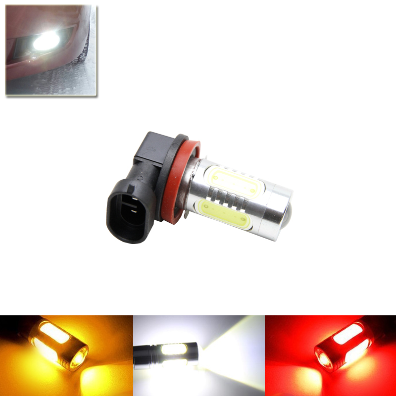 1x H11 Bulbs COB Led Chips 11W Auto Car DRL Daytime Running Fog Lamp Lights Source H8 PGJ19-1 H11 PGJ19-2 White Parking
