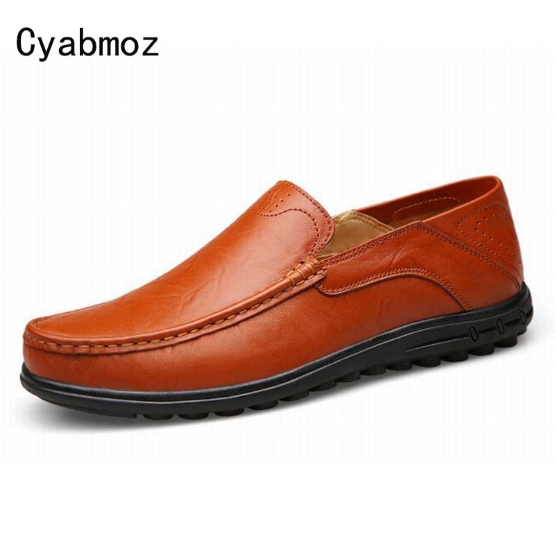 Big Size 38-47 High Quality Genuine Leather Men Shoes Soft Moccasins Loafers Fashion Brand Lazy Flats Comfortable Driving Shoes 2017 new brand breathable men s casual car driving shoes men loafers high quality genuine leather shoes soft moccasins flats