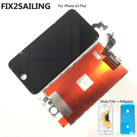 FIX2SAILING 100% Grade AAA LCD Display Touch Screen Digitizer Assembly Replacement For Apple iPhone 6S Plus+Glass Film +Adhesive