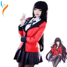 Anime Kakegurui Yumeko Jabami Cosplay Costume Japanese High School Uniform Halloween Party Costumes For Women Girls