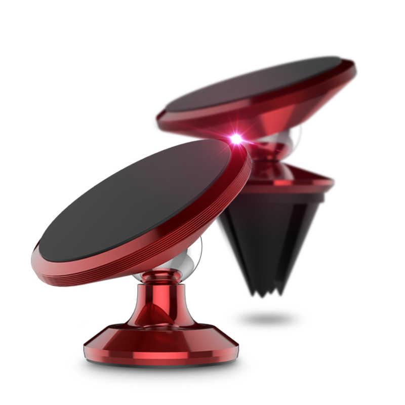Soporte Universal para coche de 360 grados Soporte magnético para teléfono móvil Soporte Movil para teléfono móvil para iPhone Smartphone GPS