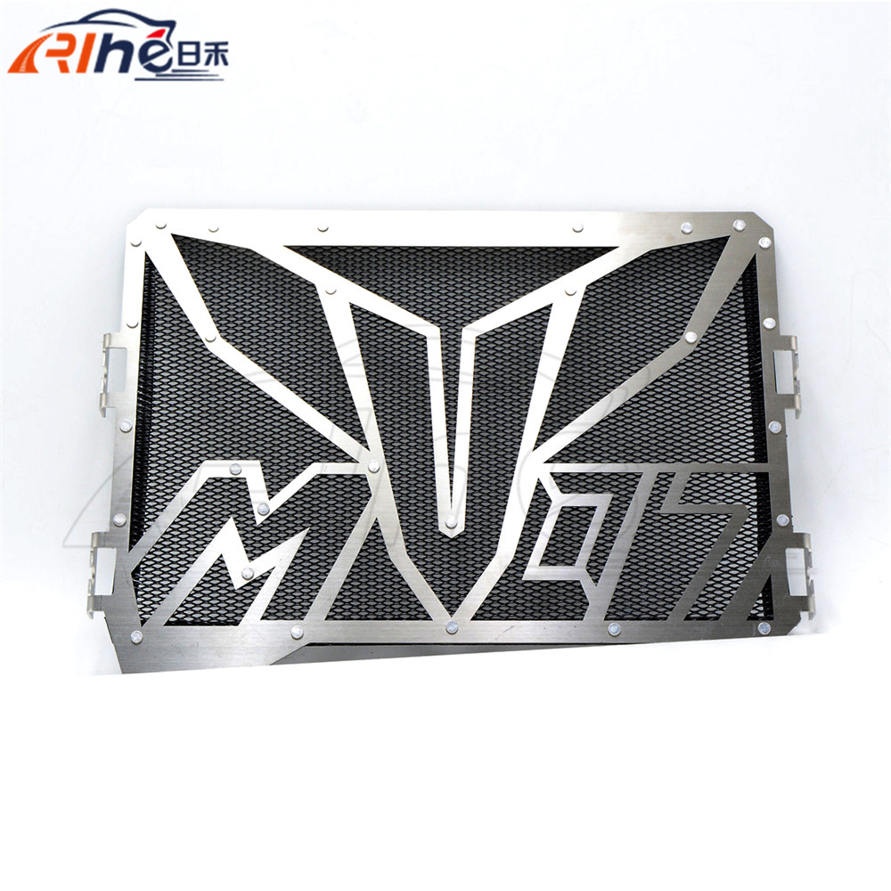black color hot motorcycle radiator guard protector grille grill cover stainless steel radiator grill cover For YAMAHA MT07 motorcycle arashi radiator grille protective cover grill guard protector for yamaha yzf r1 2004 2005 2006