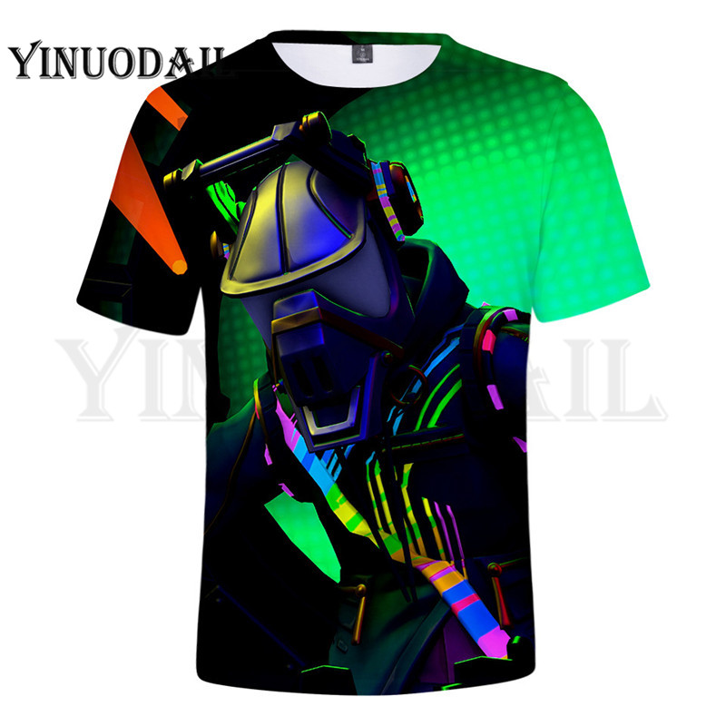100cm-160cm Parent-Child 3D T-Shirt Gunman Shirt For Kids Sudaderas Para Hombre Game Streetwear