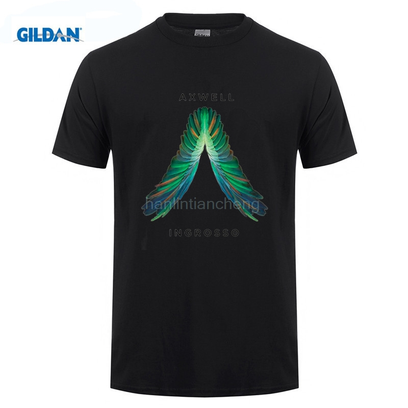 GILDAN White Summer Style Cool Wing AXWELL INGROSSO camiseta Singer men DJ master shirt print Cotton T-shirt Music fitness