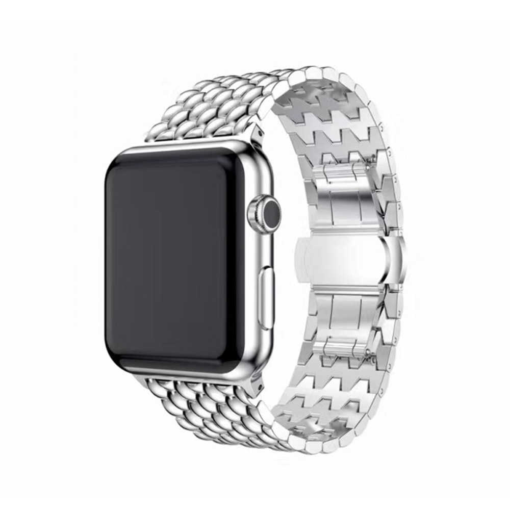 For Apple Watch Series 38/42/40/44mm Modern Fashion Watch Band Men Women Stainless Steel Strap Bracelet for iWatch 4 3 2 1